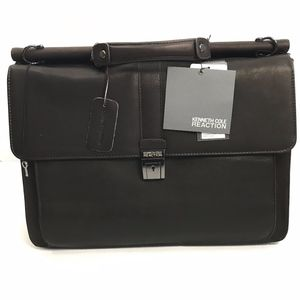 Kenneth Cole Reaction brown Leather Laptop bag